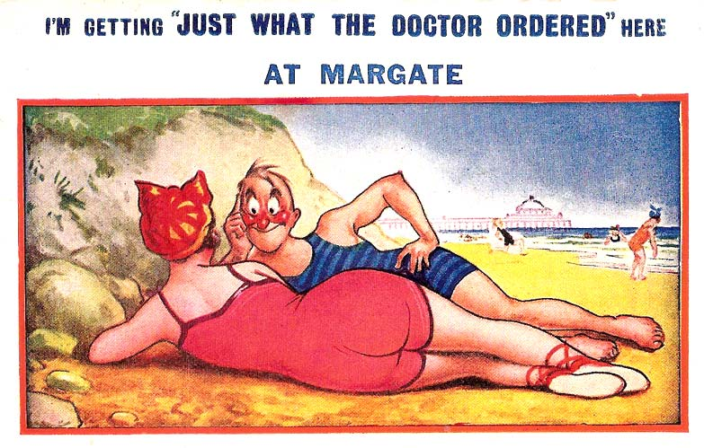 Saucy british seaside postcard