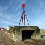 Beacon on Bexhill Beach