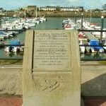 Amelia Earhart memorial, Burry Port harbour