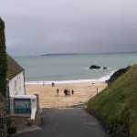 Winter view of Porthgwidden Beach, St Ives, Cornwall