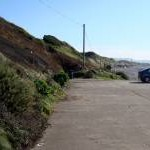 Nethertown Coastal Car Park looking south east
