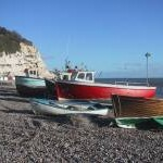 Fishing Boats drawn up on Beer Beach