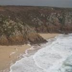 Porthcurno Beach from the Minack Theatre