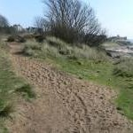 Sandy section of the coastal path