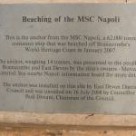 MSC Napoli information plaque, Branscombe