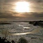 Newburgh: frozen salt marsh