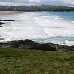 Fistral Beach from Towan Head