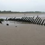 Seton Sands, with boat wreck