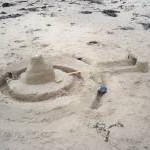 Sandcastle on Alnmouth beach after the Whit Weekend