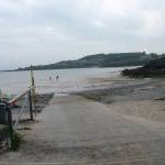 The slipway viewed from the Traeth Bychan road head