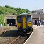 Carlisle train pulls into Whitehaven Station