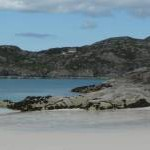 Achmelvich beach at low tide