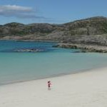 Child on Achmelvich beach