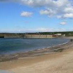 Eyemouth harbour wall