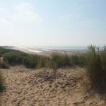 View from the sand dunes at Camber Sands