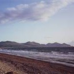 Dinas Dinlle beach looking towards the Lleyn Peninsula