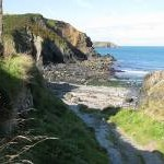 Footpath to the beach, Aber Draw