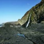 Waterfall on Tresaith Beach