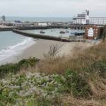 View of Folkestone harbour from the East Cliff