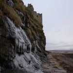 Ice on the rocks below Greenan Castle