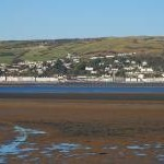 View over the Dyfi estuary to Aberdyfi