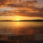 January sunset from Helensburgh