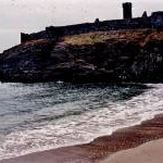 Peel - Fenella Beach, south castle wall, round tower