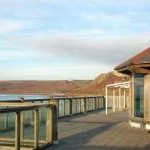 Terrace of the beachside cafe at Sennen Cove