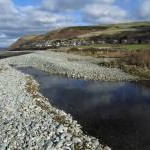 Afon Gwril at the coast