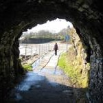 Tunnel - a view out to Coppet Hall