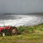 Rhossili Bay - Storm Scene with Tractor