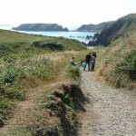 Path down to Marloes Sands