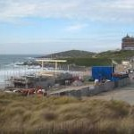 New lifeguard station under construction on Fistral Beach