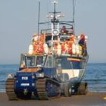 Launching Clogherhead lifeboat