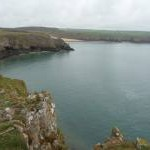 The Pembrokeshire Coast Path near Barafundle Bay