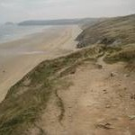 Coast path above Perran Beach