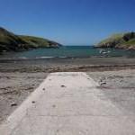 Abercastle harbour slipway