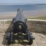 Cannon at Bamburgh Castle