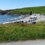 Abereiddy car park and bay