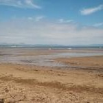 Llanbedrog beach at low tide