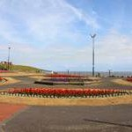 Flowerbeds on the seafront