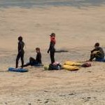 Young surfers on Porthmeor Beach, St Ives