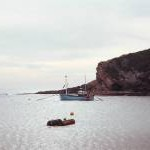 Fishing boat in Lulworth Cove