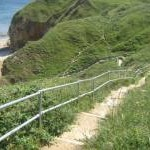 Steps to beach on County Durham Coast