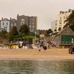 Tenby: South Beach from the Caldey ferry