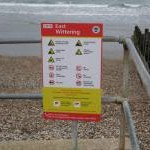 East Wittering Beach warning sign