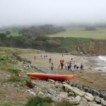 Porthluney Cove in August Mist