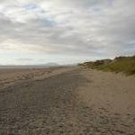 View from the beach looking toward Harlech