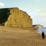 Beach and cliffs at West Bay