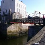 Swing bridge at Castletown harbour